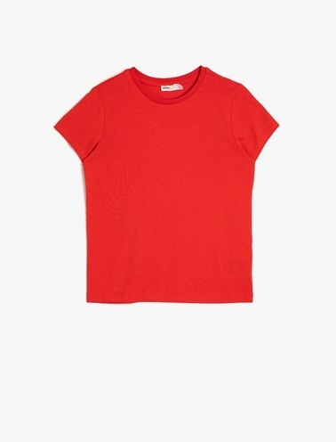 Koton Kids Bisiklet Yaka T-Shirt Kırmızı